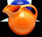 Homer Laughlin Fiesta Harlequin Ball Pitcher Orange Ice Lip