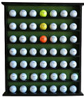 Golf Gift 49 Ball Collection Holder Cabinet Open Display Case Vintage Wood Rack