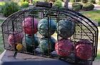 Eddie Bauer Bocce Ball Set Lawn / Yard Game with Metal Wire Carrying Case