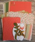 Stampin Up GOLD SOIREE dsp PAPER CARD KIT Ribbon Die Cuts Embossed Punches