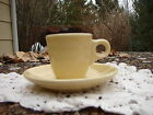 Fiesta Ware Ivory AD CUP & saucer ESPRESSO DEMITASSE New 1 st quality