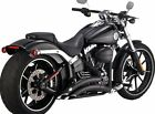 Vance And Hines Exhaust Black Big Radius 2 Into 2 For Harley 2013 2017 Breakout