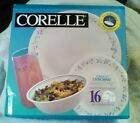 Corelle Country Cottage 16-piece Dinnerware Set with glass tumblers nib