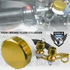 GOLD CNC ALUMINUM FRONT BRAKE/CLUTCH TANK FLUID RESERVOIR BOTTLE MASTER CYLINDER
