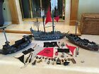 LOT 3 Lego Pirate Ships; Black Pearl Ghost + 2 more, 12 Minifigures, Caribbean