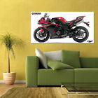 YAMAHA R1 YZF-R1 RED SPORT BIKE MOTORCYCLE HD POSTER 24x48in
