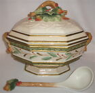 FITZ & FLOYD - WINTER WONDERLAND - HUGE COVERED TUREEN WITH MATCHING LADLE