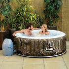 Realtree AirJet 4 Person Therapy Portable Inflatable Hot Tub Spa Bubble Round
