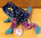 TY beanie baby babies Dart Bright Blue Spotted Frog 2000-2001 Plush Collectible!