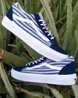 Vans OLD SKOOL Striped Navy Womens Shoes 7