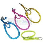 Genuine Leather Round Martingale Glamour Dog Collar Choke Training Small Rolled