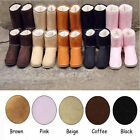 Fashion Women Lady Winter Warm Fur Lined Mid calf Snow Flats Ankle Boots Shoes