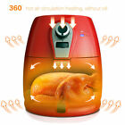 Air Circulation System 1400W Low-Fat Roaster Rapid Red Electric Air Fryer Cooker