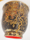 Antique Japanese Copper Gold Hand Painted Relief Cherry Fruit Bowl~w/ Provenance