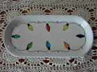 Fiesta Fiestaware STRING of CHRISTMAS LIGHT white  BREAD TRAY 1st quality