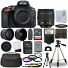 Nikon D5600 Digital SLR Camera Black + 3 Lens 18 55mm VR Lens + 32GB Bundle