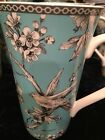222 Fifth Adelaide tall Latte mug ,cup NEW * TEAL* Free Shipping
