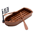 LEGO Brown Pirate Boat Ship with Paddles for Minifigure