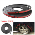 118'' Black Car Fender Flare Extension Wheel Eyebrow Moulding Trim Protector Lip