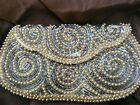 Vintage seed pearl and beaded purse steampunk flapper costume designer elegant