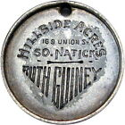 South Natick Massachusetts 1940 Counterstamped Dime Ruth Guiney Hillside Acres