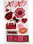 JOLEES VALENTINES DAY LOVE HEART XOXO Scrapbook Sticker 10 pc