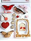 RECOLLECTIONS VALENTINES DAY LOVE SENTIMENTS Scrapbook Sticker 16 pc