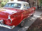 1955 Ford Thunderbird red and white Ford thunderbird 1955