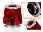 275 Cold Air Intake Dry Filter Universal RED For Geo Prizm Spectrum storm