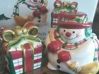 fitz and floyd plaid christmas salt and pepper shakers nib