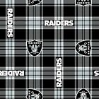 NFL OAKLAND RAIDERS FLEECE FABRIC MATERIAL Fabric Sold By The Yard NEW