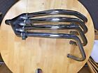 1975-1977 Honda CB400F OEM SS EXHAUST HEADER PIPES AND JOINT MUFFLER 4-1