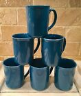 6 Vintage Corning Ware Coffee Cups Mugs Bright Blue  Country Cottage Excellent