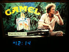 Vintage 1981 CAMEL Cigarettes LIGHTED SIGN with LED CLOCK Jeep in Jungle RJRTC