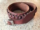 Vintage George Laurence 7 MM Cartridge Ammo Belt - Leather - 30 Rounds - Size 36