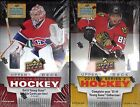 2013-14 Upper Deck Hockey 2- Box Factory Sealed Hobby Box Lot (Series 1 + 2)