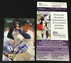 HOF PEDRO MARTINEZ 1998 FLEER TRADITION SIGNED AUTOGRAPH CARD #381 RED SOX JSA