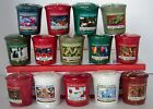 Yankee Candle Christmas  Holiday Votive You Choose Mix  Match