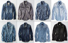 American Eagle AE Mens Classic Denim Chambray Western Button Shirt NWT