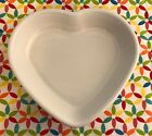 Fiestaware White Medium Heart Bowl Fiesta Candy Dish