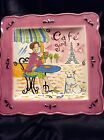 Certified International Jennifer Brinley  Cafe GIRL Pink Hand Painted Plate