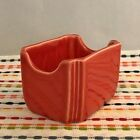 Fiestaware Persimmon Sugar Caddy HLC Fiesta Retired Sugar Packet Holder