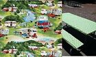 Stay Put Fitted 6 foot Tablecloth and bench 3 Pc set Camping Trailer or RV Table