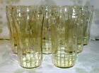 CRYSTAL STRAIGHT RIB OPTIC YELLOW TOPAZ TUMBLER (9 available price for one  EXC