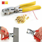 Eyelet Grommet Pliers Hole Punch Steel Fabric Paper Canvas Setter Repairing Kit
