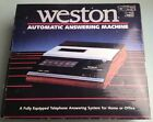 Nos!! Vintage WESTON Automatic Telephone Answering Machine  box cassette No4015