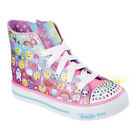 Girls Skechers Twinkle Toes Shuffles Chat Time High Top Sneaker