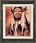 Indian Old Chief Cheyenne Native American Wall Decor Art Print Framed Picture
