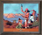 Geronimo Chricahua Apache Native American Wall Decor Barnwood Framed Picture