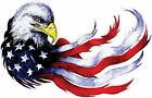 Patriotic Eagle American Flag Digital Vinyl Bumper Sticker Decal USA American 1